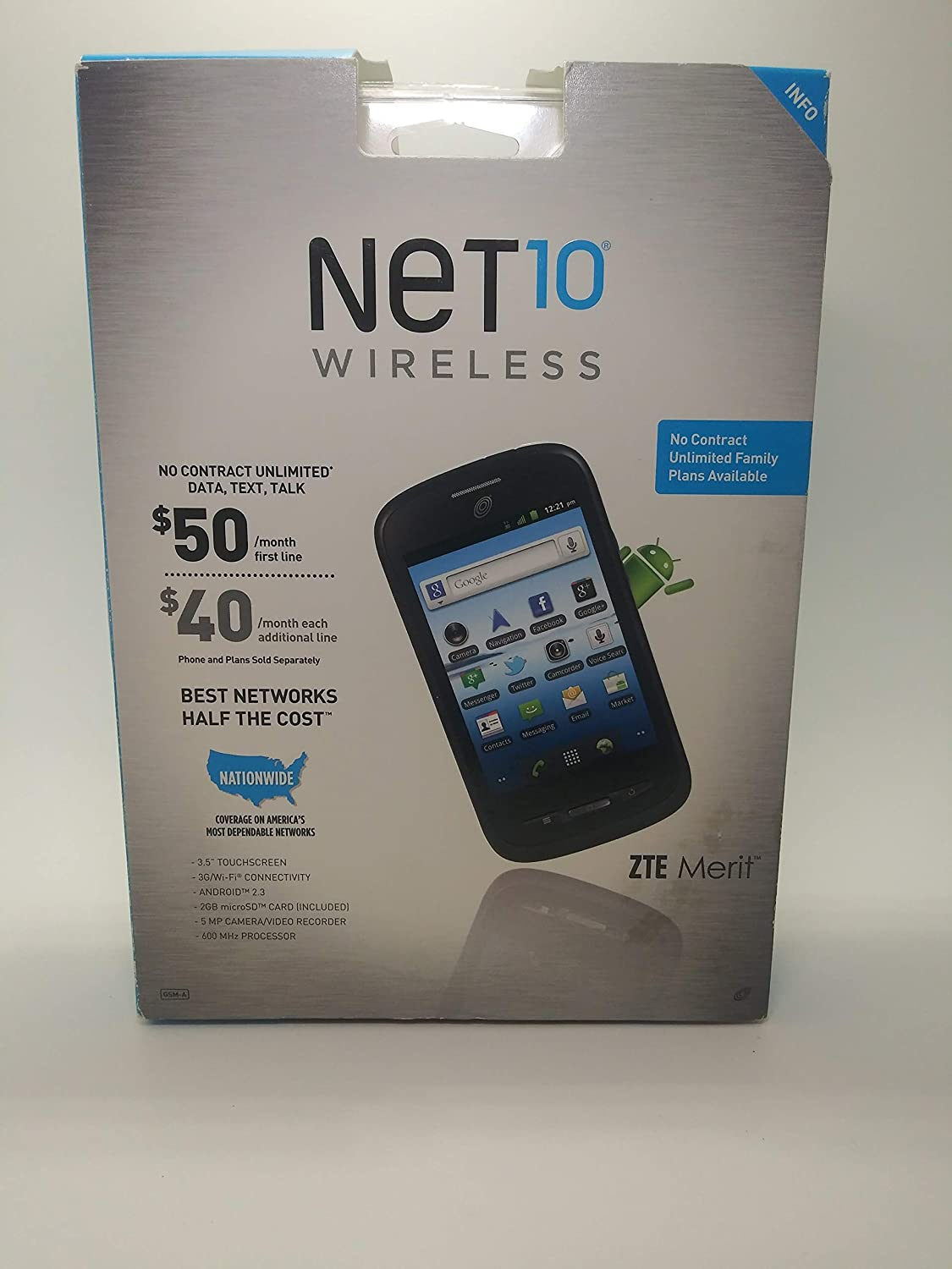 ZTE Merit Outstanding Quality inspection Z990G Prepaid Android Cell Phone Talk Straight -