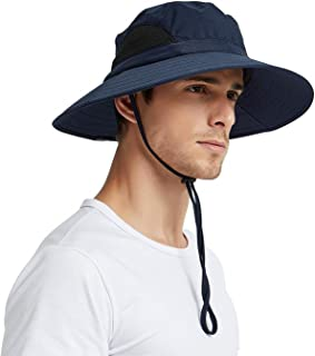 EINSKEY Sun Hats for Men, Unisex UV Protection Wide Brim Bucket Hat Foldable Waterproof Outdoor Boonie Cap for Safari Fishing Boating Hunting Hiking Camping