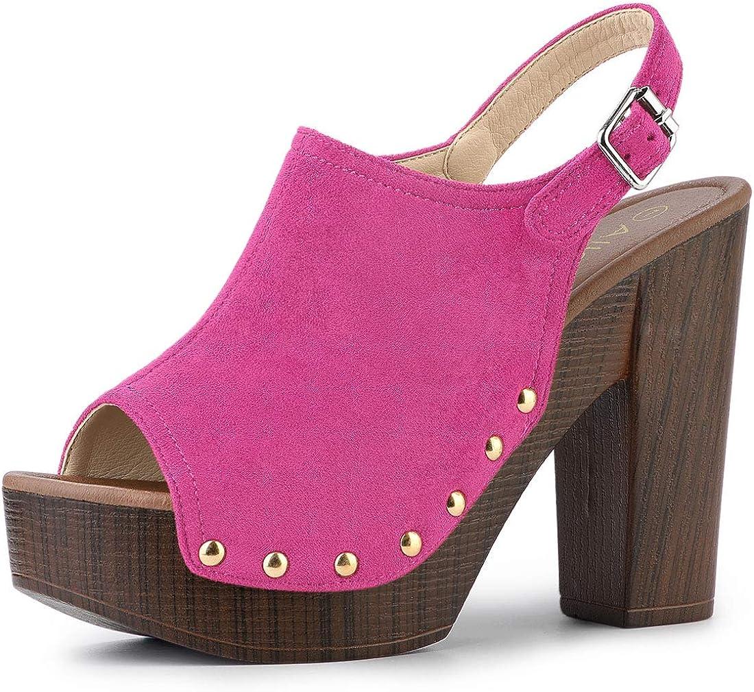 Allegra 2021 autumn and winter new K Women's Open Toe Sandal Heel Slingback Platform 67% OFF of fixed price Chunky
