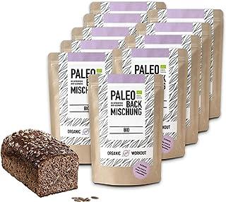 Organic Workout PALEO-BACKMISCHUNG 10er Pack – bio, gluten-frei, lower-carb, Eiweiss-Brot-Alternative, Fitness-Brot-Alternative, clean-eating, hefefrei, ohne Getreide, hergestellt in Deutschland