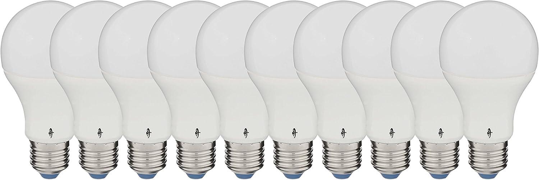 NT LED-Lampe Birne (10er Pack)   10W   ersetzt 60W (60-75W)   E27 Sockel   2700K-warmwei   806 Lumen