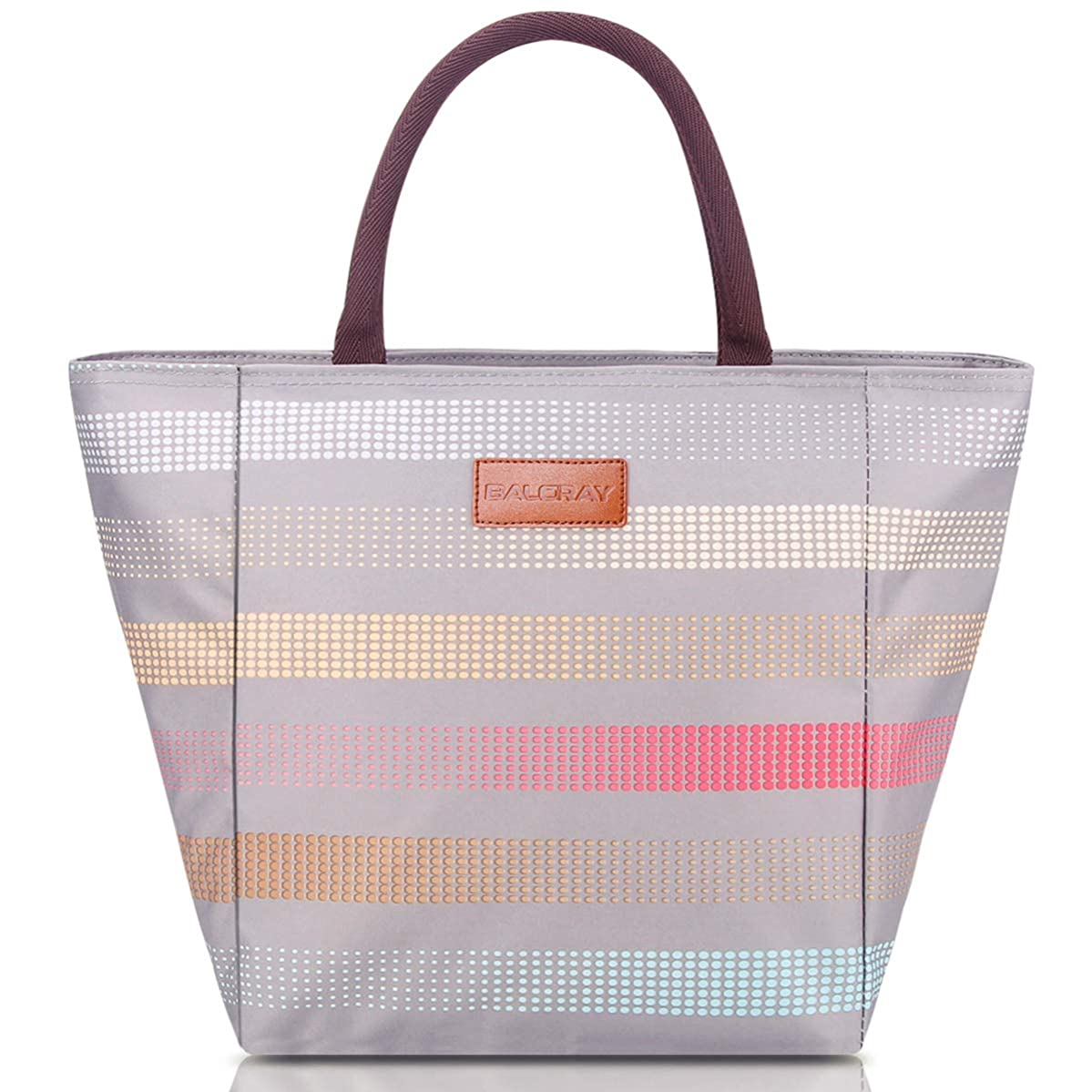 BALORAY Lunch Bags for Women Lunch Tote Bag Stylish Lunch Organizer Lunch Container (G-199XL Grey)