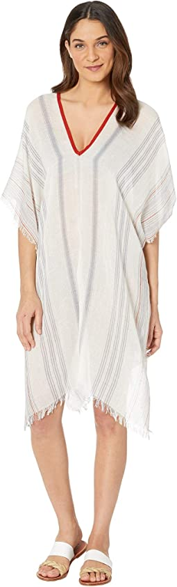 Olivia V-Neck Kaftan with Fringe