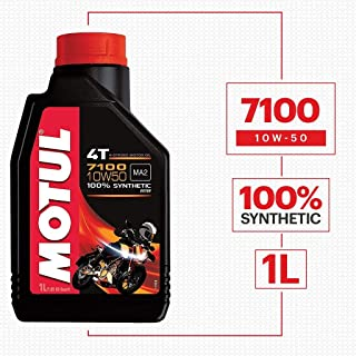 Motul 7100 4T 10W50 API SN Fully Synthetic Ester Petrol Engine Oil for Bikes (1 L)