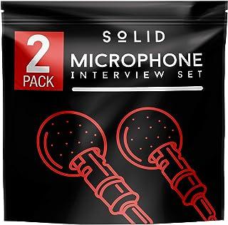 Lavalier Lapel Microphone 2-Pack Complete Set - Omnidirectional Mic for Desktop PC Computer, Mac, Smartphone, iPhone, GoPro, DSLR, Camcorder for Podcast, Youtube, Vlogging, and DJs