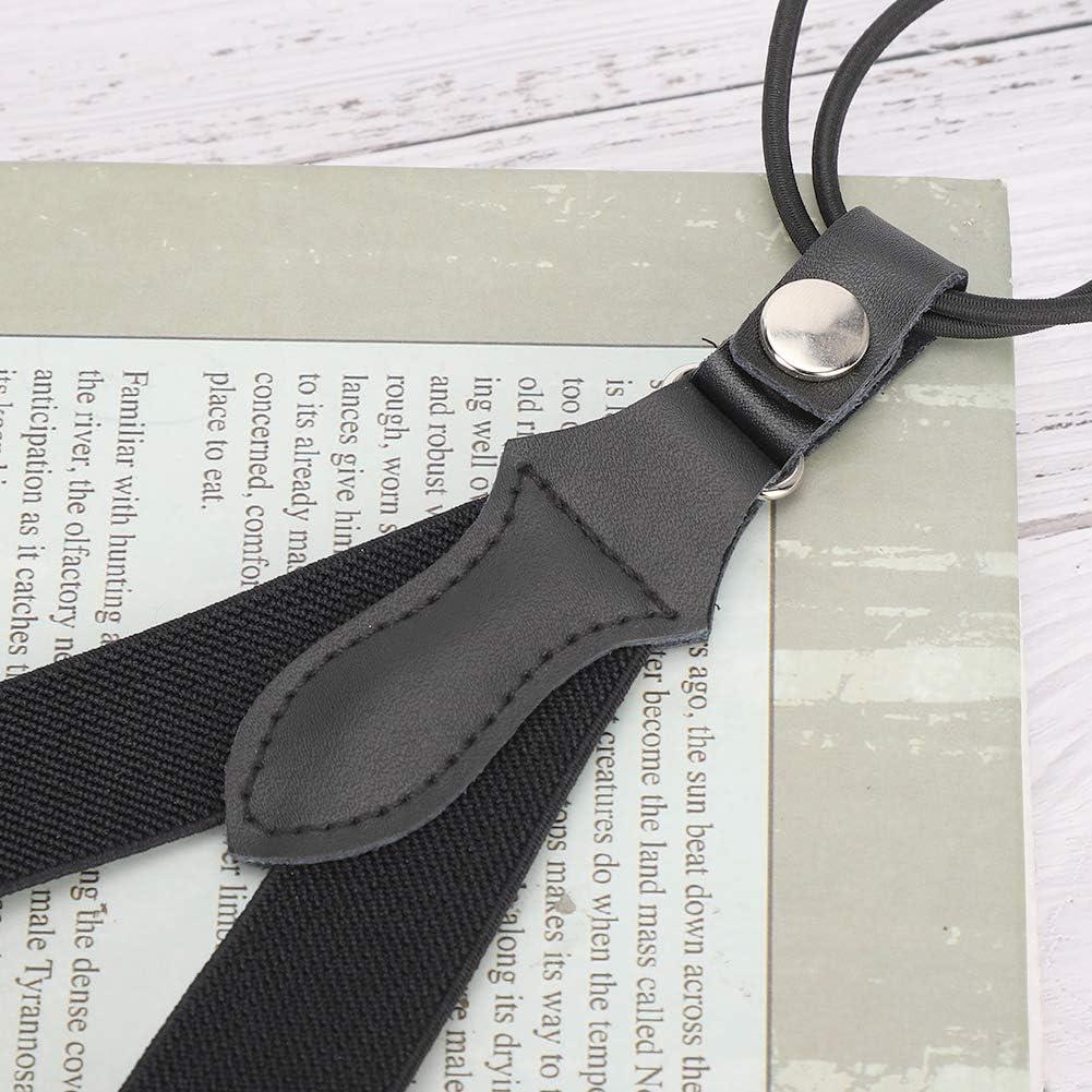 Pssopp Y Shaped Suspenders High Elastic Retro British Gentleman Style Retractable Braces Suspenders for Man
