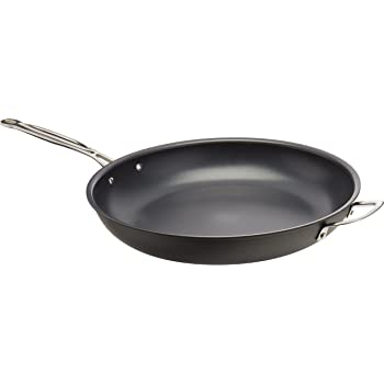Cuisinart 622-36H Chef's Classic Nonstick Hard-Anodized 14-Inch Open Skillet with Helper Handle, Black