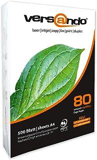 comprar comparacion Versando - Paquete de 500 hojas, 80 DIN A4 color blanco, papel universal de 80 g/m² para imprimir/fotocopiar