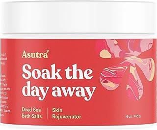 ASUTRA Dead Sea Bath Salts (Skin Rejuvenator), 16 oz | Naturally Soften Skin & Feel Younger | Soak in Rich & Vital Healing...