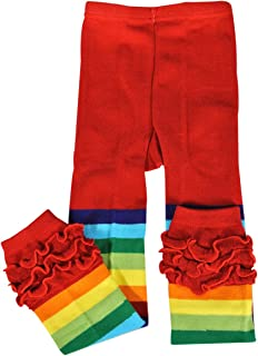 Wrapables Rainbow Ruffle Toddler Leggings - 105cm