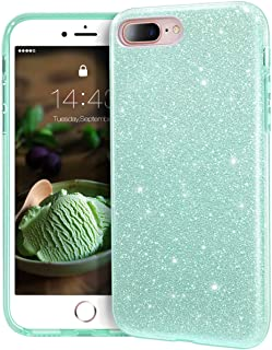 MATEPROX iPhone 8 Plus case,iPhone 7 Plus Glitter Bling Sparkle Cute Girls Women Protective Case for iPhone 7 Plus/8 Plus 5.5