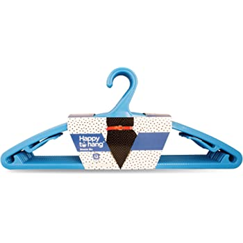 Happy To Hang 12 Piece Polypropylene Hanger, Blue