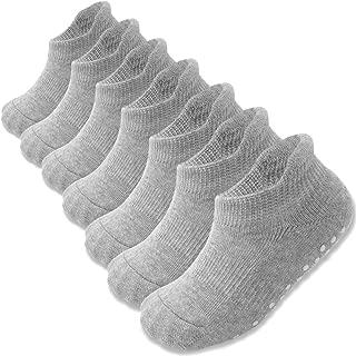 Grip Ankle Socks Anti Slip Non Skid for Baby Infants Toddler Kids Boys Girls 7 Pairs