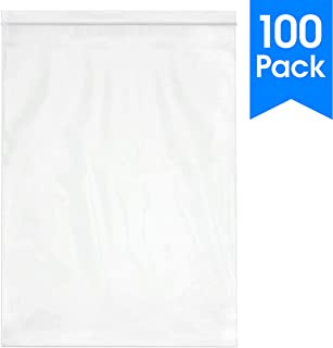 Spartan Industrial || 100 Count - 13 X 18� - 2 Mil Clear Plastic Reclosable Zip Poly Bags with Resealable Lock Seal Zipper (More Sizes Available)