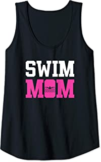 Womens Swim Mom Funny Swimming Accessories And Gift Tank Top