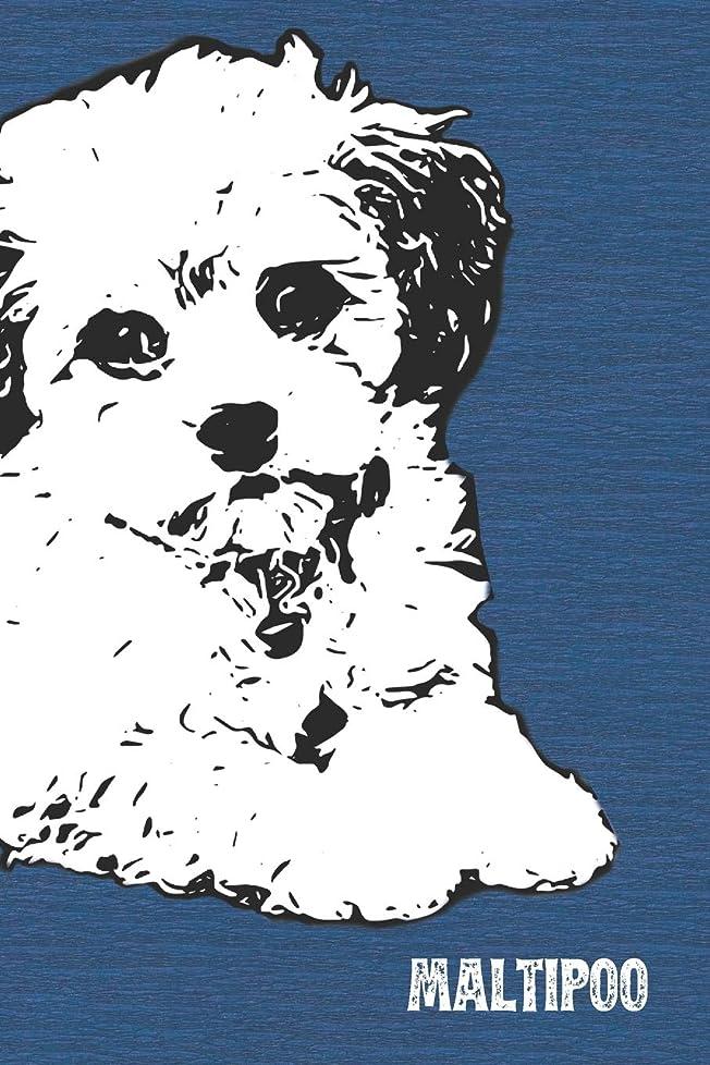 ジムベルベット伝導Maltipoo Lined Notebook: An Elegant Lined Journal For Moodle Owners (Pedigree Prints Dog Journals and Notebooks)
