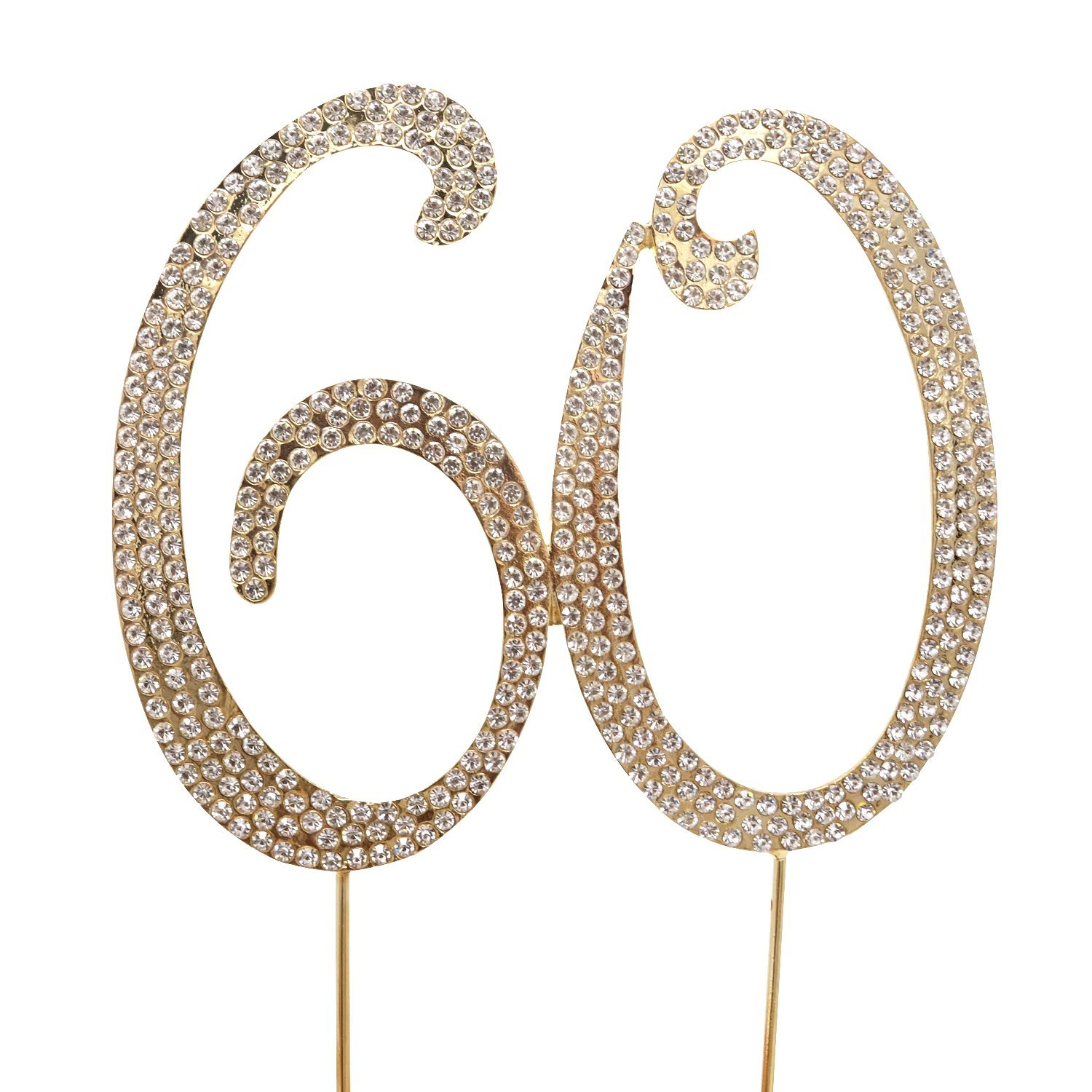 Honbay 60 Cake Topper Limited Special Price Premium Rhinestones Max 51% OFF Crystal Sparkly T