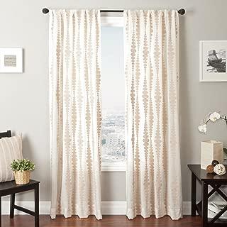 Softline Home Fashions Cozumel Series Boucle Window Curtain/Drape/Panel/Treatment, Natural, 55 x 84