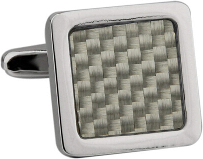 Daesar Groom Cufflinks Personalized Mens Cuff Links and Shirt Studs Check Pattern Cufflinks Box for Men