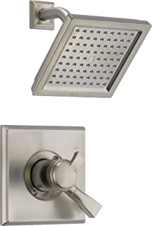 Delta Faucet Dryden 17 Series Dual-Function Shower Trim Kit with Single-Spray Touch-Clean Shower Head, Stainless T17251-SS (Valve Not Included)