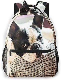 RAHJK Mochila Tipo Casual Mochila Escolares Mochilas Estilo Impermeable para Viaje De Ordenador Portátil hasta 14 Pulgadas Adorable Bulldog francés