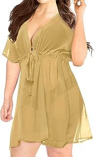 Womens Sexy Chiffon Swimsuit Cover Ups Sheer Bikini Plus Blouse Shirt B