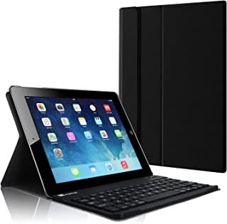 Fintie Blade X1 Keyboard Case for Apple iPad 4th Generation with Retina Display, iPad 3 & iPad 2 Slim Lightweight Stand Cover with Magnetically Detachable Wireless Bluetooth Keyboard - Black