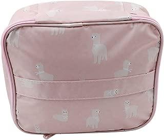 CH Multifunction Portable Travel Toiletry Bag Cosmetic Makeup bag (Pink alpaca)