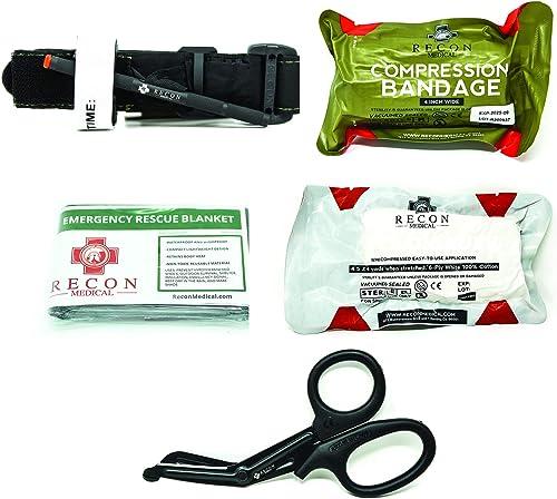 Recon Medical Pack -Includes Recon Medical GEN 4 Black TQ Vacuumed Sealed Bag
