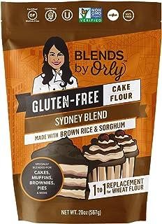 Blends by Orly Sydney Blend Premium Gluten Free Cake Flour   Gluten Free Pancake and Waffle Flour - Baking Flour for Gluten Free Muffins, Gluten Free Brownie, GF Cupcake, GF Souffles 20 OZ