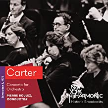 Carter: Concerto for Orchestra (Recorded 1975)