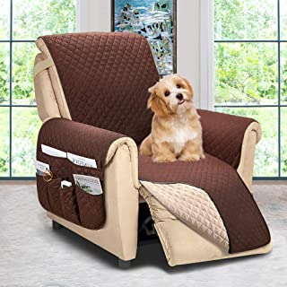 Best Reversible Recliner Chair Cover, Sofa Covers for Dogs,Sofa Slipcover,Couch Covers for 3 Cushion Couch,Couch Protector(Recliner Oversize:Chocolate/Beige) Review