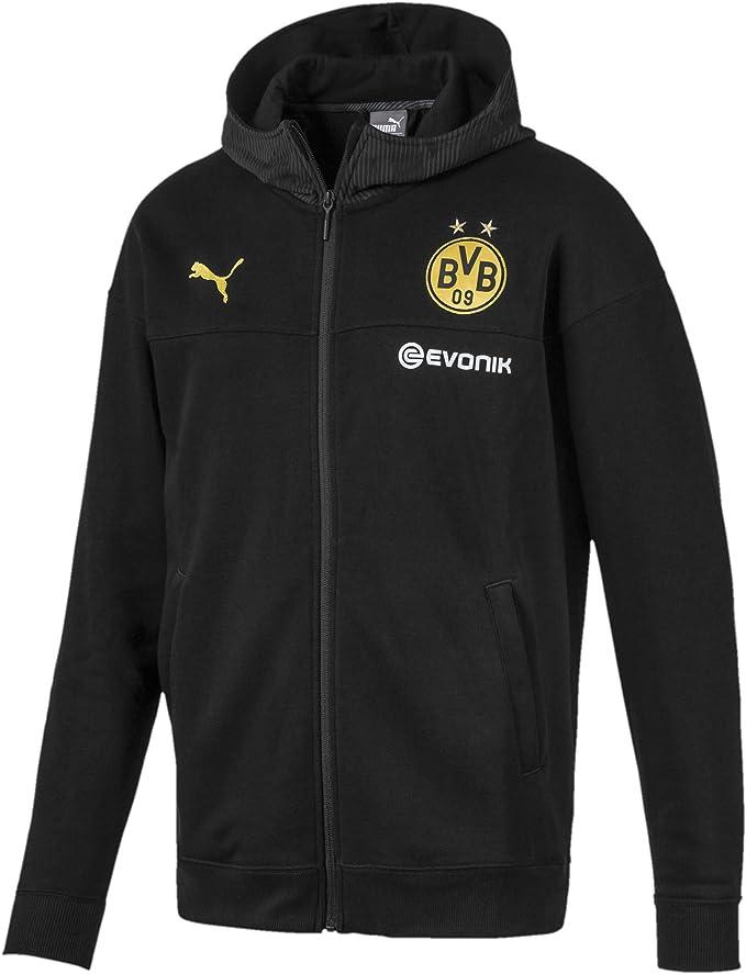 Puma Borussia Dortmund BVB Casuals Hooded, Giacca Tuta Uomo
