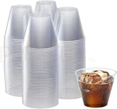 Clear Plastic Cups | 9 Ounce. - 200 Pack | Hard Disposable Cups | Plastic Wine Cups | Plastic Cocktail Glasses | Plastic Drinking Cups | Plastic Party Punch Cups | Bulk Party Cups | Wedding Tumblers