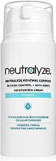Neutralyze Renewal Complex (3.4 oz) - Maximum Strength Anti Acne + Anti Aging Moisturizer Cream With Time-Released 2% Salicylic Acid + 1% Mandelic Acid + Nitrogen Boost Skincare Technology
