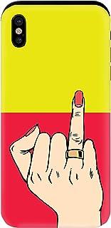 YANcase 订婚图像兼容苹果 iPhone X 或 iPhone Xs 保险杠框架双层保护钱包手机套带滑动卡槽,哑光黄色