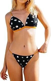 CUPSHE Women's Triangle Bikini Set Polka Dot
