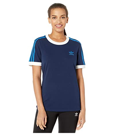 adidas Originals 3-Stripes Tee (Collegiate Navy) Women