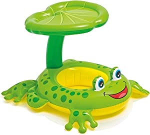 """Intex Recreation 56584EP Froggy Friend Shaded Baby Float Toy, 8"""", Multicolor"""