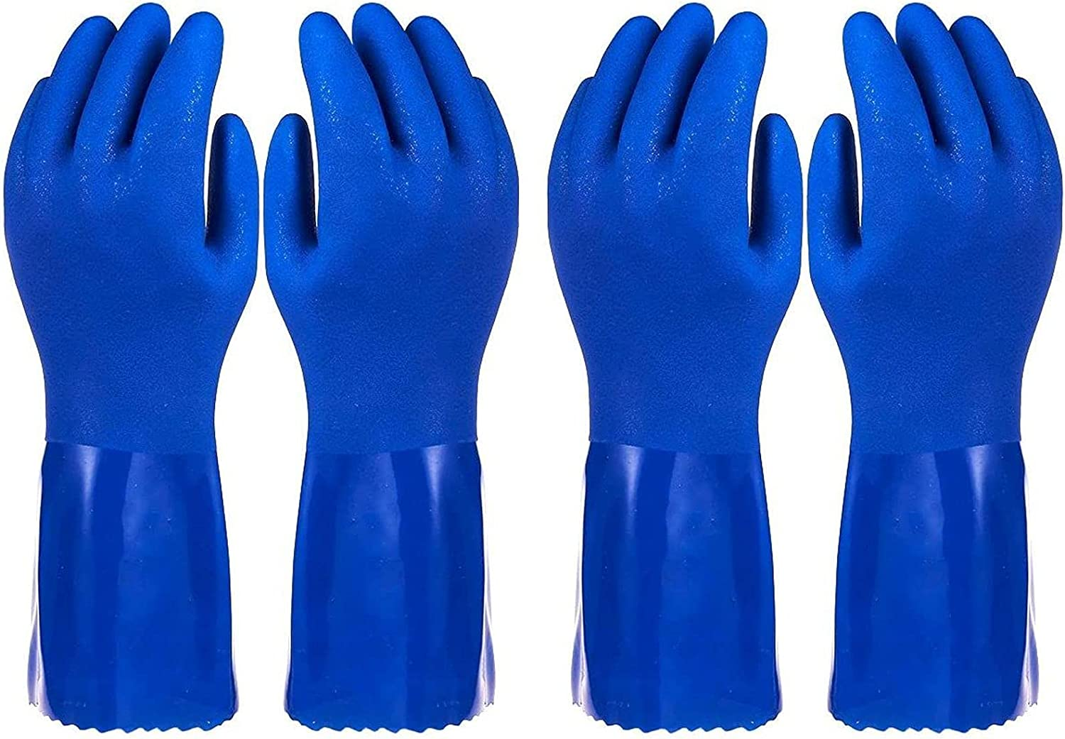 2 Pairs Rubber Philadelphia Mall Household Cleaning Dishwashing for Ranking TOP2 Gloves Kitchen