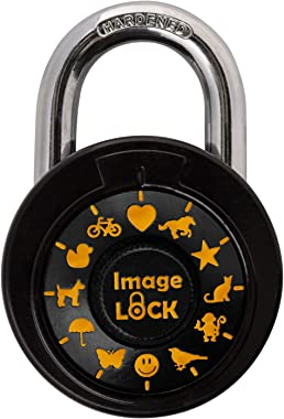 Combination Pictures Lock - ImageLOCK Patented Non Reset Combination Lock – Pictures Instead of Numbers –Double-Reinforced Stainless Steel Lock - Orange