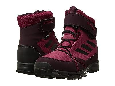 adidas Outdoor Kids Terrex Snow CF CP CW (Little Kid/Big Kid) (Myster Ruby/Black/Dark Burgundy) Girl