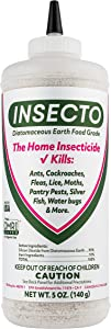 Insecto Diatomaceous Earth Food Grade - 5 oz Ready to Use Crawling Bug Killer for House Insects, Indoor and Outdoor - Designed to Reach Tight Places