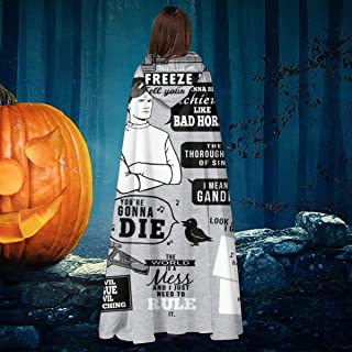 Horrible Quotes Dr Horribles Sing Along Blog Unisex Christmas Halloween Witch Knight Hooded Robe Vampires Cape Cloak Cosplay Costume Black