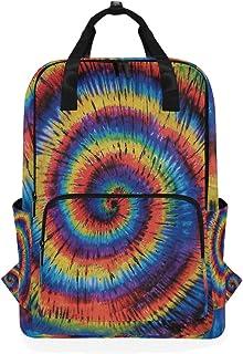 MONTOJ Mochila de Viaje Rainbow Spiral Mochila Escolar