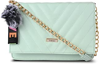 Fargo Leatherette Side Sling Bags For Women's Ladies (Sea Green_FGO-273)