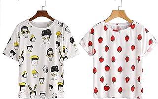 JUNEBERRY Women's T-Shirt-Pack of 2