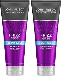 JOHN FRIEDA Frizz Ease Dream Curls Shampoo and Conditioner 250ml each - Re-awaken and energize natural curls. For soft, sm...