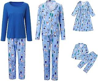 Family Pajamas Set Women Men Kids Cartoon Shirt Top+Pants Sleepwear