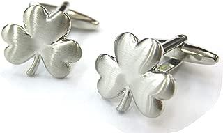 Tailor B Silver Shamrock Cufflinks Irish Shamrock Cuff Links Gemelos